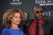 Actor Don Cheadle and actress Brigid Coulter attend the premiere of Marvel's 'Captain America Civil War' at Dolby Theater on April 12 2016 in...