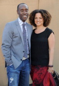 Actor Don Cheadle and Bridgid Coulter arrive at the CBS/CW/Showtime Television Critic Association's summer press tour party at 9900 Wilshire Blvd on...