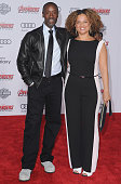Actor Don Cheadle and Bridgid Coulter arrive at the Los Angeles Premiere Marvel's 'Avengers Age Of Ultron' at Dolby Theatre on April 13 2015 in...