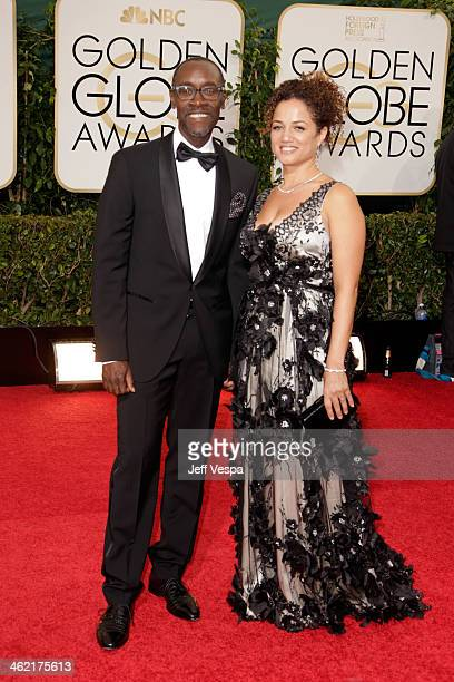 Actor Don Cheadle and Brigid Coulter attend the 71st Annual Golden Globe Awards held at The Beverly Hilton Hotel on January 12 2014 in Beverly Hills...