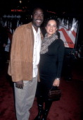 Actor Don Cheadle and girlfriend Bridgid Coulter attend the 'Ocean's Eleven' Westwood Premiere on December 5 2001 at the Mann Village Theatre in...