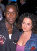 Actor Don Cheadle and girlfriend Bridgid Coulter attend the 'Planet of the Apes' New York City Premiere on July 23 2001 at the Ziegfeld Theatre in...