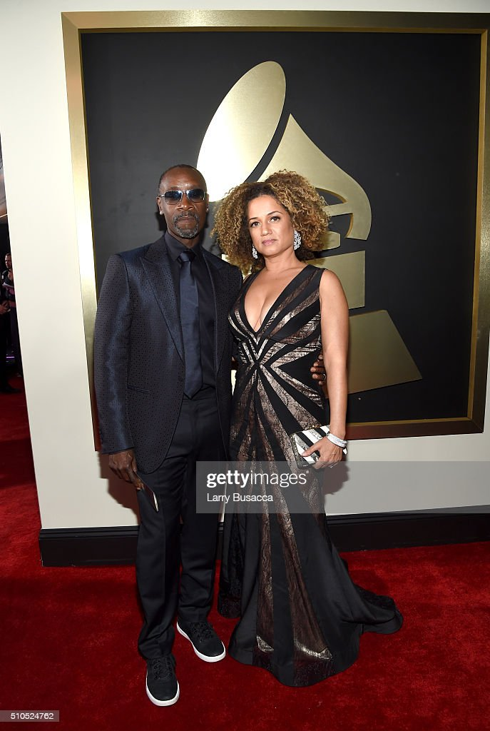 Actor Don Cheadle (L) and guest attend The 58th GRAMMY Awards at Staples Center on February 15, 2016 in Los Angeles, California.