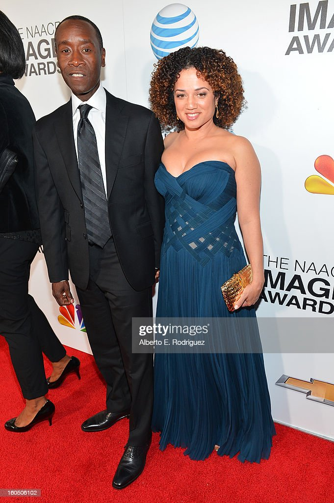 Actor <a gi-track='captionPersonalityLinkClicked' href=/galleries/search?phrase=Don+Cheadle&family=editorial&specificpeople=202096 ng-click='$event.stopPropagation()'>Don Cheadle</a> and partner/actress Brigid Coulter attend the 44th NAACP Image Awards at The Shrine Auditorium on February 1, 2013 in Los Angeles, California.