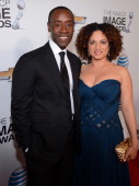 Actor Don Cheadle and wife Bridgid Coulter attend the 44th NAACP Image Awards at The Shrine Auditorium on February 1 2013 in Los Angeles California