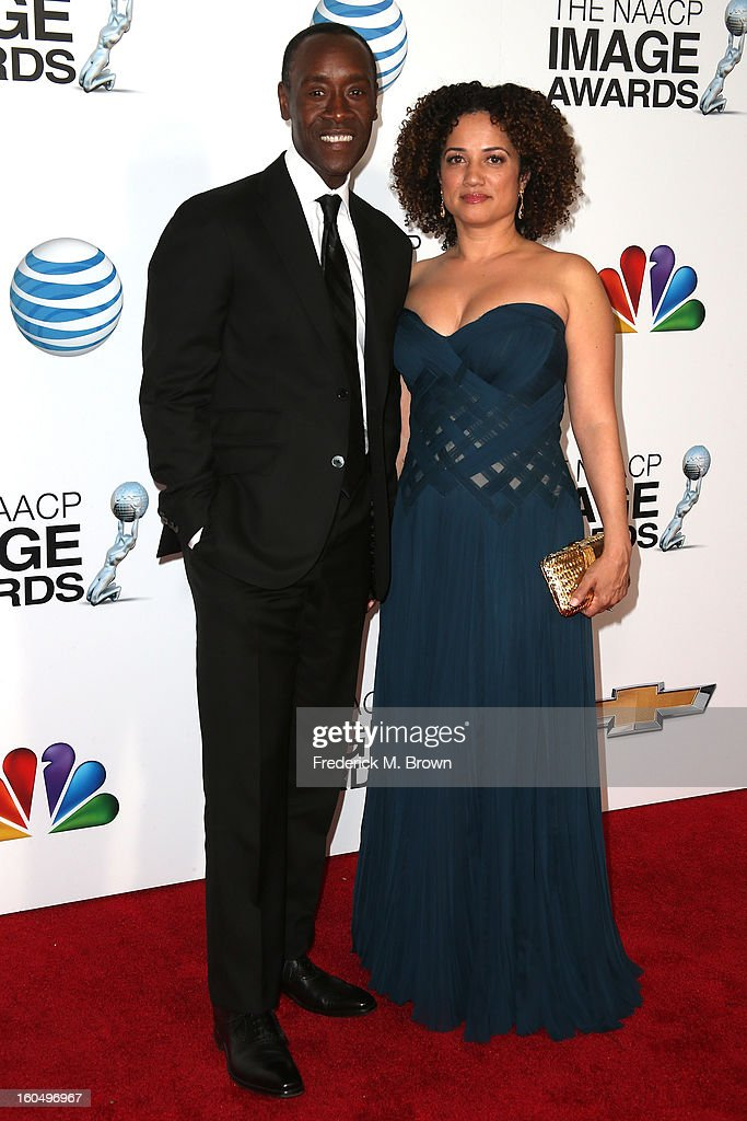 Actor Don Cheadle and wife Bridgid Coulter attend the 44th NAACP Image Awards at The Shrine Auditorium on February 1, 2013 in Los Angeles, California.