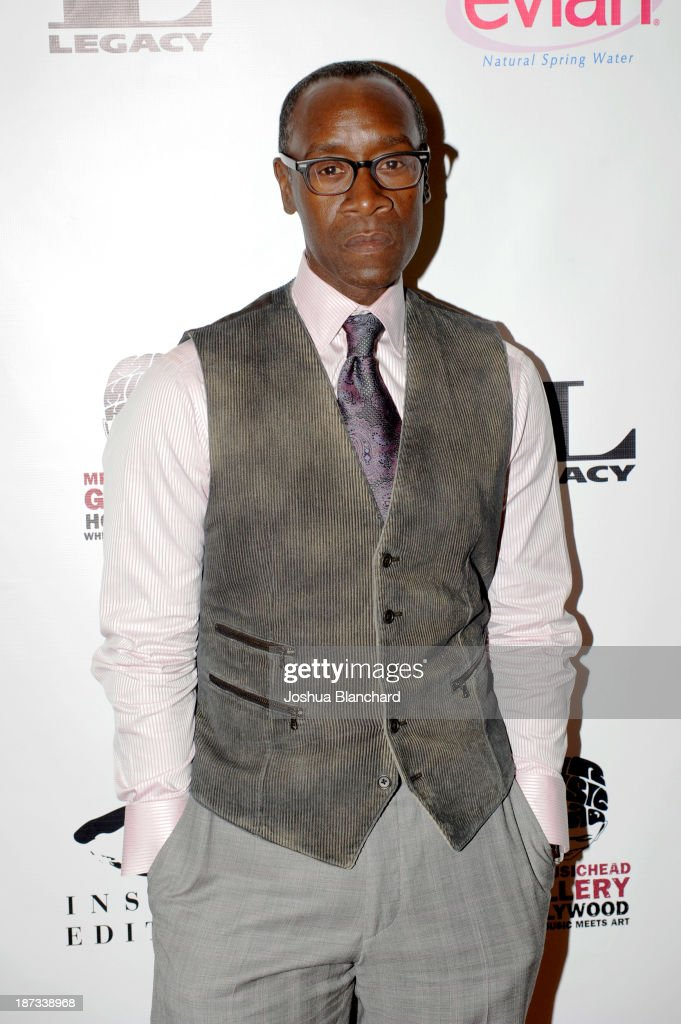 Actor <a gi-track='captionPersonalityLinkClicked' href=/galleries/search?phrase=Don+Cheadle&family=editorial&specificpeople=202096 ng-click='$event.stopPropagation()'>Don Cheadle</a> arrives at Mr. Musichead Gallery for the 'Miles Davis: The Collected Artwork' Launch Party on November 7, 2013 in Los Angeles, California.