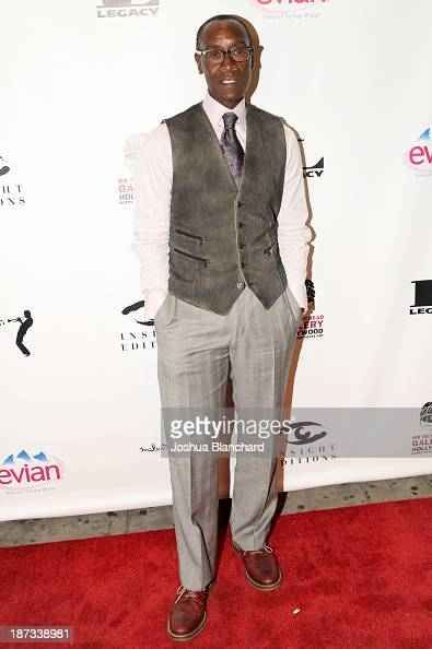 Actor Don Cheadle arrives at Mr Musichead Gallery for the 'Miles Davis The Collected Artwork' Launch Party on November 7 2013 in Los Angeles...