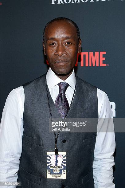 Actor Don Cheadle arrives at the Floyd Mayweather Jr vs Canelo Alvarez boxing match at the MGM Grand Garden Arena on September 14 2013 in Las Vegas...