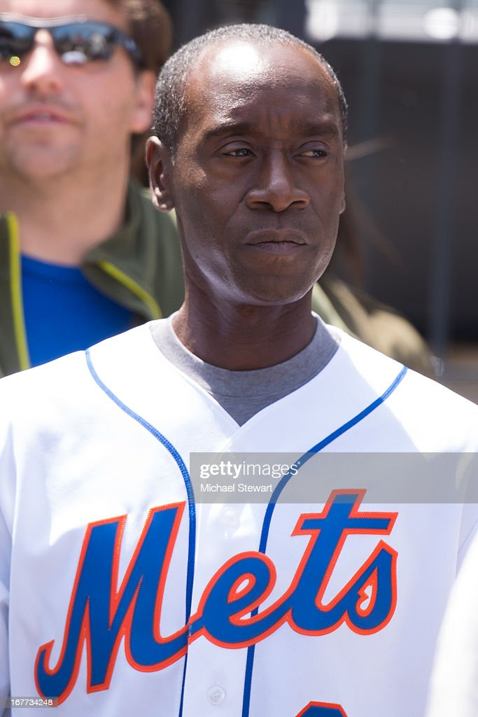Actor Don Cheadle attends the Philadelphia Phillies vs New York Mets game at Citi Field on April 28, 2013 in New York City.