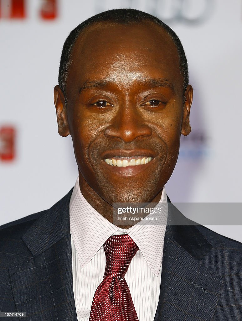 Actor Don Cheadle attends the premiere of Walt Disney Pictures' 'Iron Man 3' at the El Capitan Theatre on April 24, 2013 in Hollywood, California.