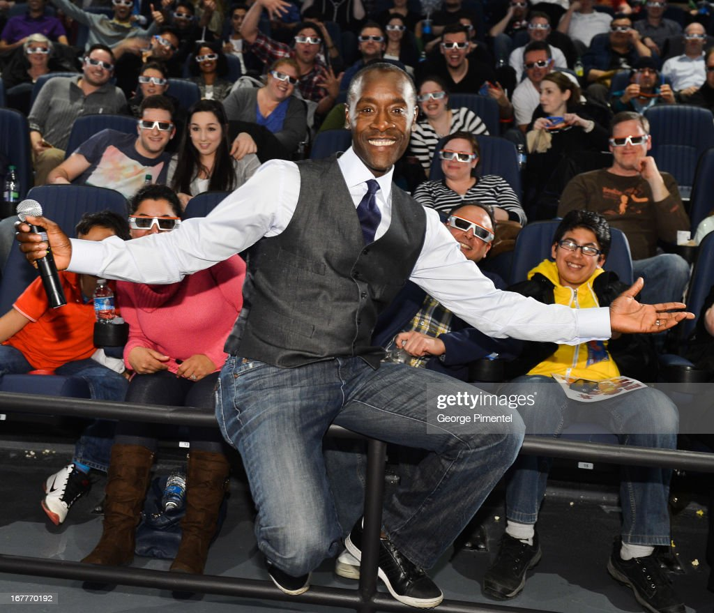 Actor <a gi-track='captionPersonalityLinkClicked' href=/galleries/search?phrase=Don+Cheadle&family=editorial&specificpeople=202096 ng-click='$event.stopPropagation()'>Don Cheadle</a> attends the premiere ofÊMarvel's 'Iron Man 3' Toronto Advanced ScreeningÊat theÊCineplex Odeon Yonge & Dundas CinemasÊon April 29, 2013 Toronto, Canada.