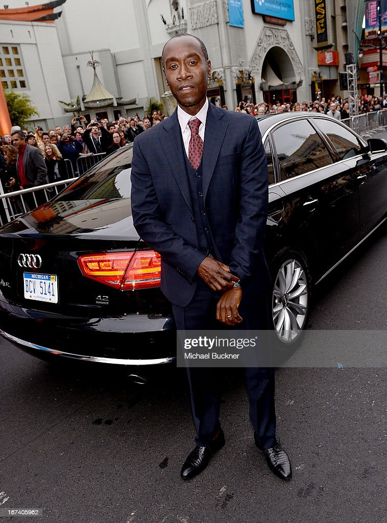 Actor <a gi-track='captionPersonalityLinkClicked' href=/galleries/search?phrase=Don+Cheadle&family=editorial&specificpeople=202096 ng-click='$event.stopPropagation()'>Don Cheadle</a> attends the U.S. Premiere of Marvel's Iron Man 3 hosted by Audi at the El Capitan Theatre on April 24, 2013 in Hollywood, California.