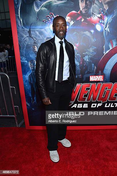 Actor Don Cheadle attends the world premiere of Marvel's 'Avengers Age Of Ultron' at the Dolby Theatre on April 13 2015 in Hollywood California