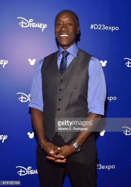 Actor Don Cheadle of AVENGERS INFINITY WAR took part today in the Walt Disney Studios live action presentation at Disney's D23 EXPO 2017 in Anaheim...