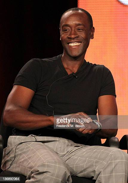 Actor Don Cheadle of the television show 'House of Lies' speaks during the Showtime portion of the 2012 Television Critics Association Press Tour at...