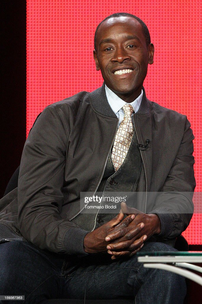 Actor <a gi-track='captionPersonalityLinkClicked' href=/galleries/search?phrase=Don+Cheadle&family=editorial&specificpeople=202096 ng-click='$event.stopPropagation()'>Don Cheadle</a> of the TV show 'House of Lies' attends the 2013 TCA Winter Press Tour CW/CBS panel held at The Langham Huntington Hotel and Spa on January 12, 2013 in Pasadena, California.