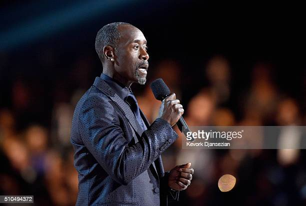 Actor Don Cheadle speaks onstage during The 58th GRAMMY Awards at Staples Center on February 15 2016 in Los Angeles California