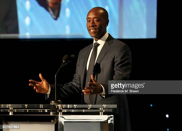 Actor Don Cheadle speaks onstage during the Academy of Motion Picture Arts and Sciences' 8th annual Governors Awards at The Ray Dolby Ballroom at...