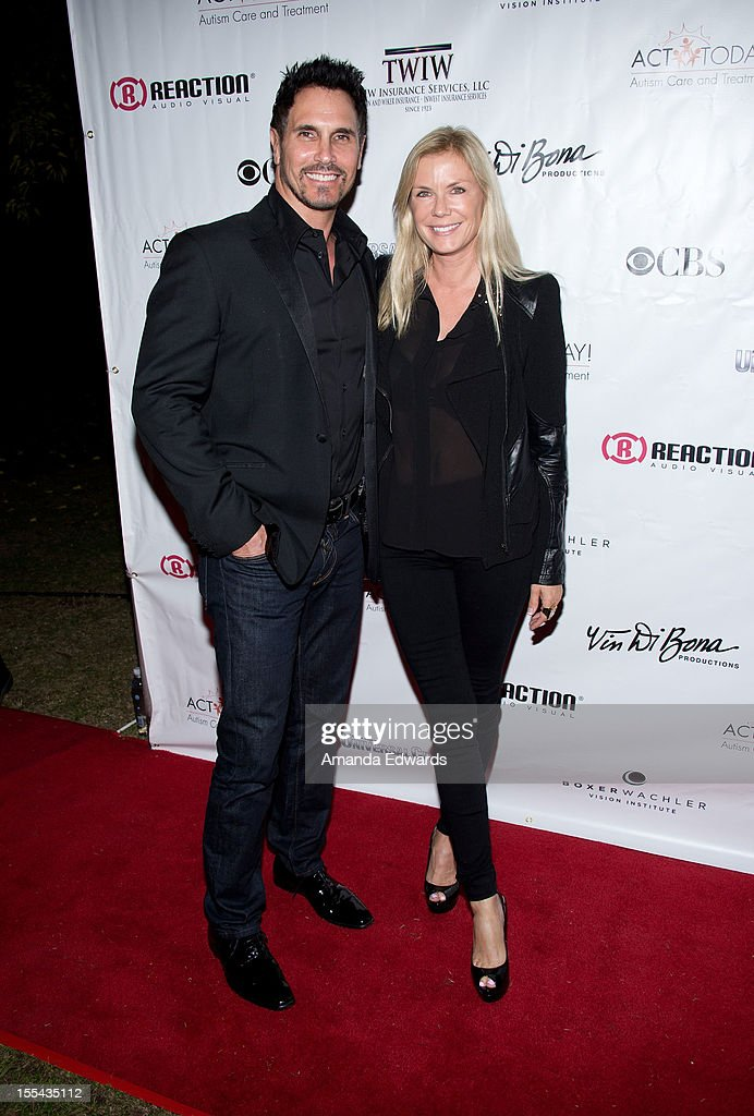 Actor Don Diamont (L) and actress Katherine Kelly Lang arrive at the ACT Today!'s 7th Annual Denim & Diamonds For Autism Benefit on November 3, 2012 in Malibu, California.