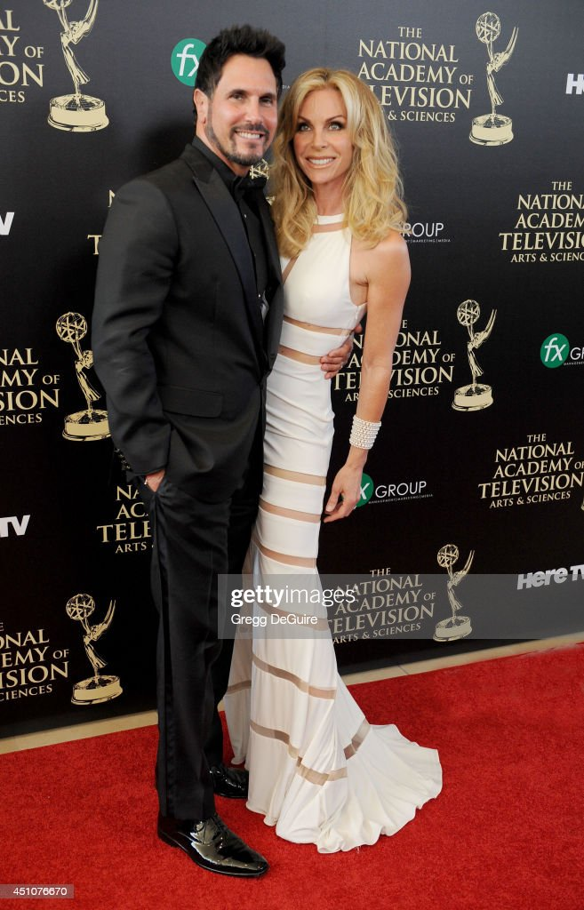 Actor Don Diamont and Cindy Ambuehl arrive at the 41st Annual Daytime Emmy Awards at The Beverly Hilton Hotel on June 22, 2014 in Beverly Hills, California.