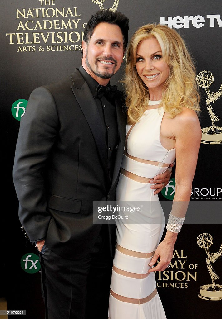 Actor Don Diamont and Cindy Ambuehl arrive at the 41st Annual Daytime Emmy Awards at The Beverly Hilton Hotel on June 22 2014 in Beverly Hills...
