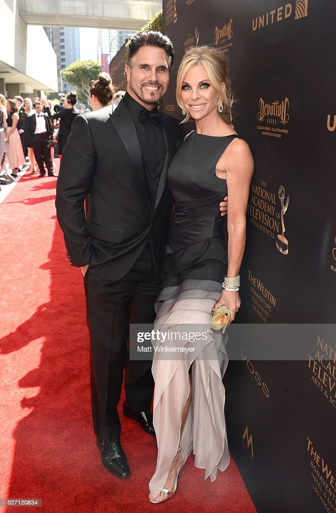 Actor <a gi-track='captionPersonalityLinkClicked' href=/galleries/search?phrase=Don+Diamont&family=editorial&specificpeople=606917 ng-click='$event.stopPropagation()'>Don Diamont</a> and guest walk the red carpet at the 43rd Annual Daytime Emmy Awards at the Westin Bonaventure Hotel on May 1, 2016 in Los Angeles, California.