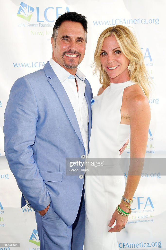 Actor Don Diamont and wife Cindy Ambuehl attend the Lung Cancer Foundation of America's 6th Annual 'Day at the Races' at the Del Mar Race Track on...
