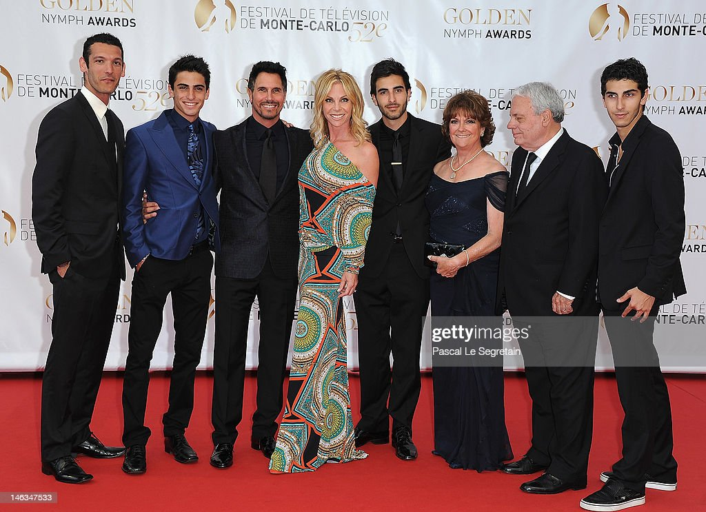 Actor <a gi-track='captionPersonalityLinkClicked' href=/galleries/search?phrase=Don+Diamont&family=editorial&specificpeople=606917 ng-click='$event.stopPropagation()'>Don Diamont</a>, his wife Cindy Ambuehl and their familly arrive at the Closing Ceremony of the 52nd Monte Carlo TV Festival on June 14, 2012 in Monte-Carlo, Monaco.