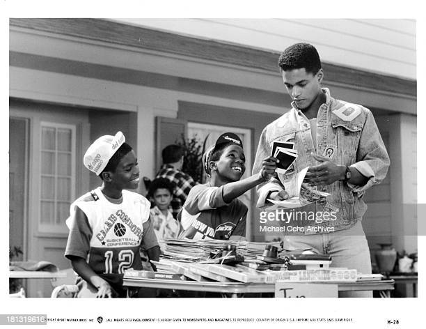 Actor Don Franklin on set of the Warner Bros movie ' Moving' in 1988