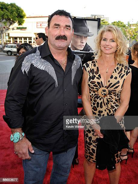 Actor Don Frye and wife Molly arrive at the 2009 Los Angeles Film Festival's and Universal Pictures' premiere of 'Public Enemies' at the Mann Village...