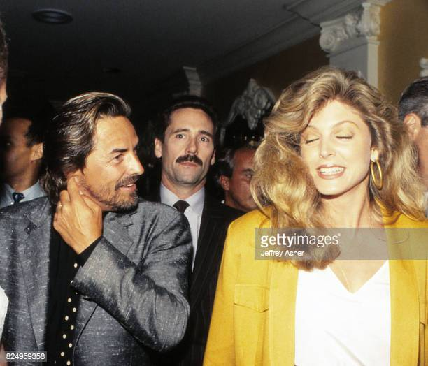 Actor Don Johnson and Donald Trumps Friend Marla Maples at Trump Castle Casino Hotel in Atlantic City New Jersey November 1 1990