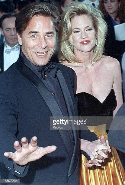 Actor Don Johnson and his wife actress Melanie Griffith circa 1990