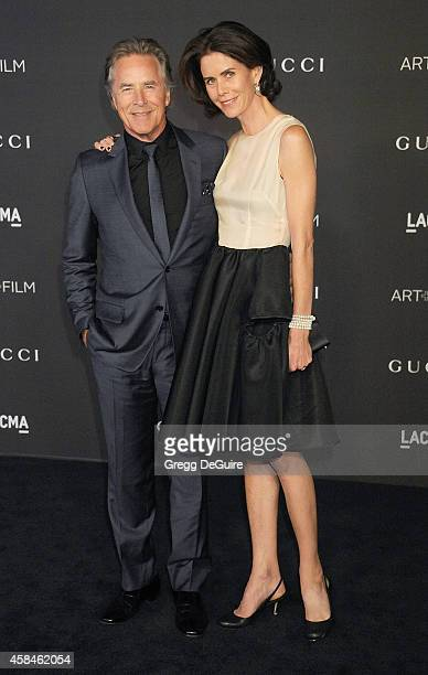 Actor Don Johnson and wife Kelley Phleger attend the 2014 LACMA Art Film Gala Honoring Barbara Kruger And Quentin Tarantino Presented By Gucci at...