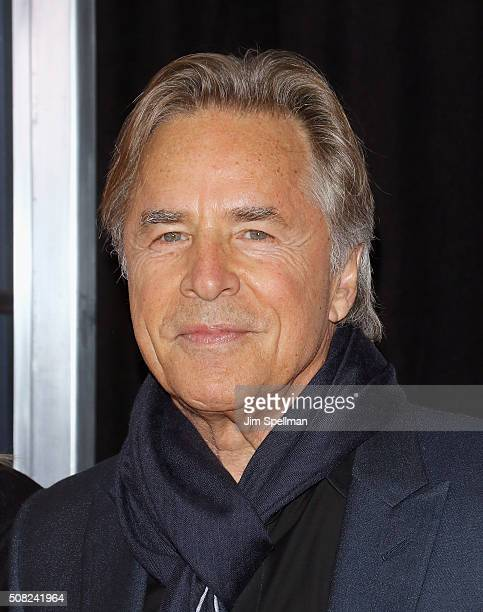 Actor Don Johnson attends the 'How To Be Single' New York premiere at NYU Skirball Center on February 3 2016 in New York City