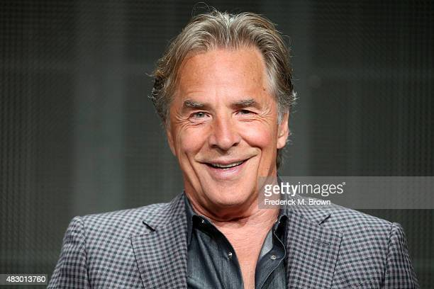Actor Don Johnson speaks onstage during the 'Blood Oil' panel discussion at the ABC Entertainment portion of the 2015 Summer TCA Tour at The Beverly...