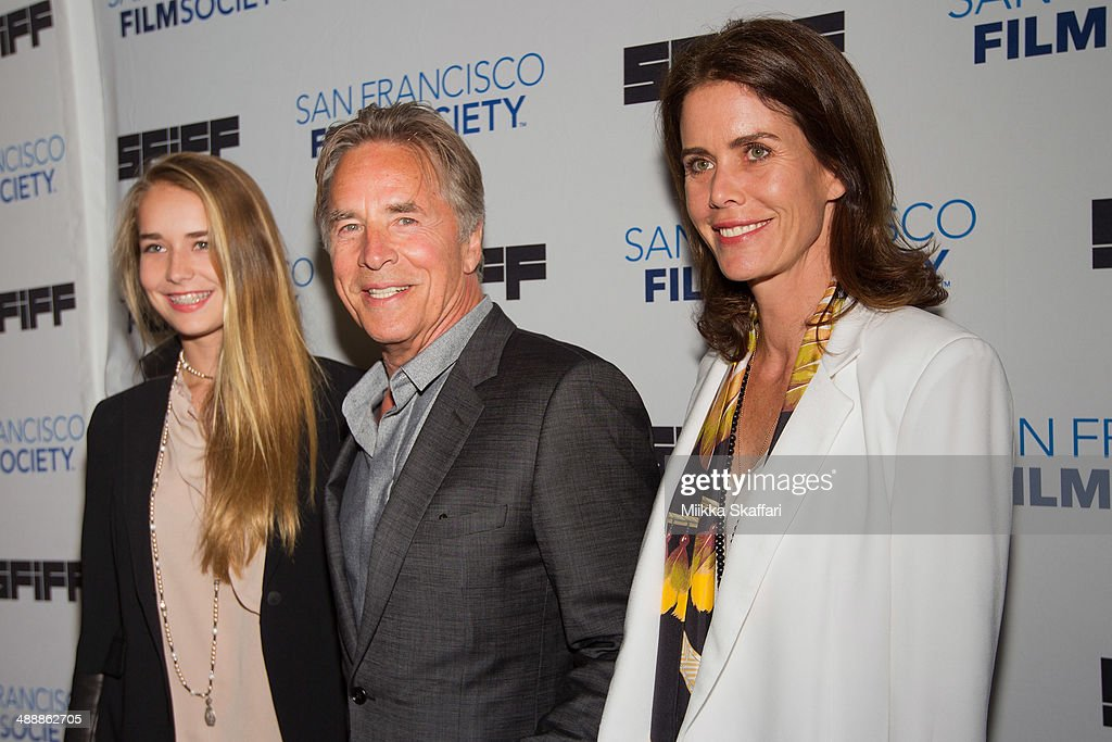 Actor <a gi-track='captionPersonalityLinkClicked' href=/galleries/search?phrase=Don+Johnson&family=editorial&specificpeople=211250 ng-click='$event.stopPropagation()'>Don Johnson</a> (C) with his daughter Atherton Grace Johnson and wife Kelley Phleger arrives to the premiere of 'Alex Of Venice' in San Francisco International Film Festival on May 8, 2014 in San Francisco, California.