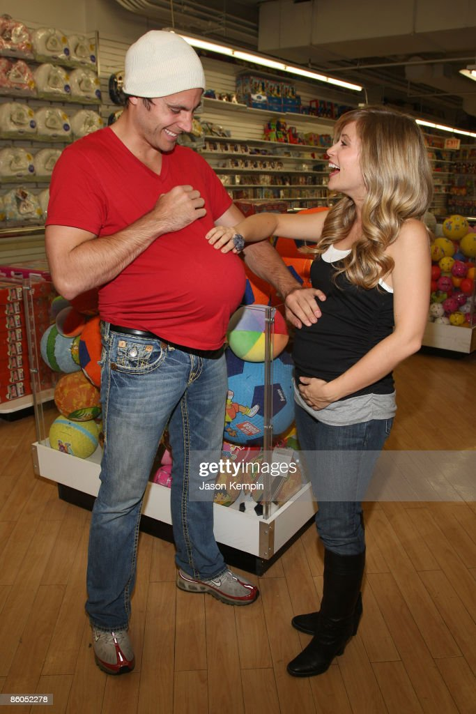 Actor Don Money and actress Marcy Rylan shop at Buy Buy Baby on April 20, 2009 in New York City.