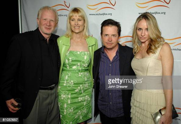 HOLLYWOOD MAY 08 Actor Don Most and wife Morgan Hart actor Michael J Fox and actress Tracy Pollan during The Michael J Fox Foundation For Parkinson's...
