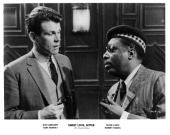 Actor Don Murray and Dick Gregory in a scene from the movie 'Sweet Love Bitter' circa 1967