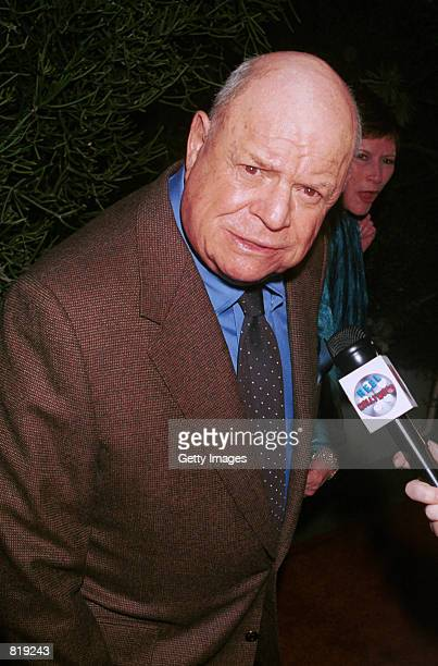 Actor Don Rickles attends the Spago closing party hosted by celebrity chef Wolfgang Puck and his wife Barbara Lazaroff March 28 2001 in West...