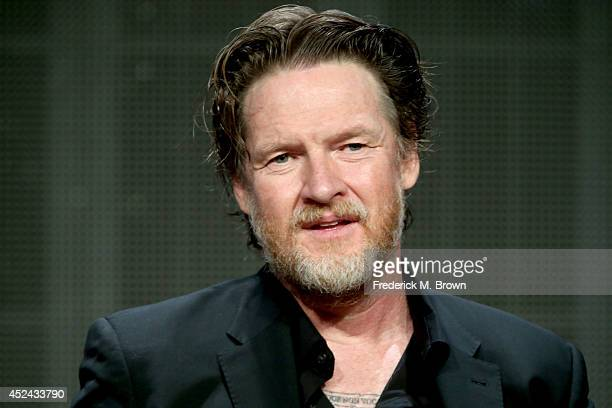 Actor Donal Logue speaks onstage at the 'Gotham' panel during the FOX Network portion of the 2014 Summer Television Critics Association at The...