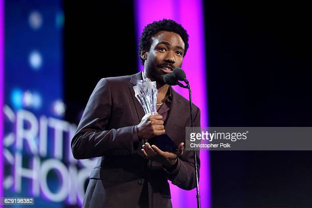 Actor Donald Glover accepts the Best Actor in a Comedy Series award for 'Atlanta' onstage during the The 22nd Annual Critics' Choice Awards at Barker...