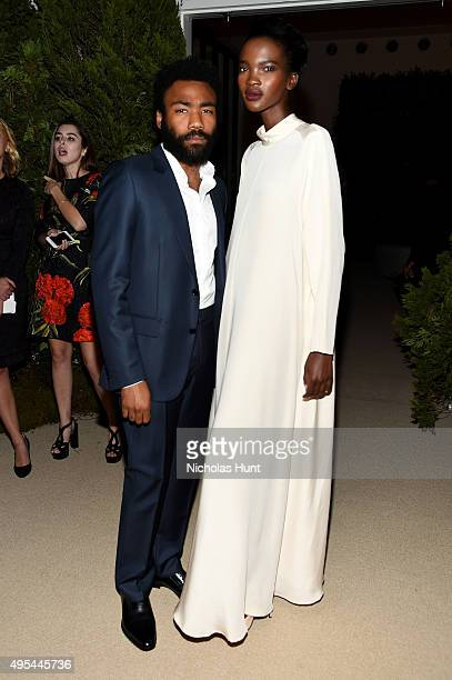 Actor Donald Glover and Aamito Lagum attend the 12th annual CFDA/Vogue Fashion Fund Awards at Spring Studios on November 2 2015 in New York City