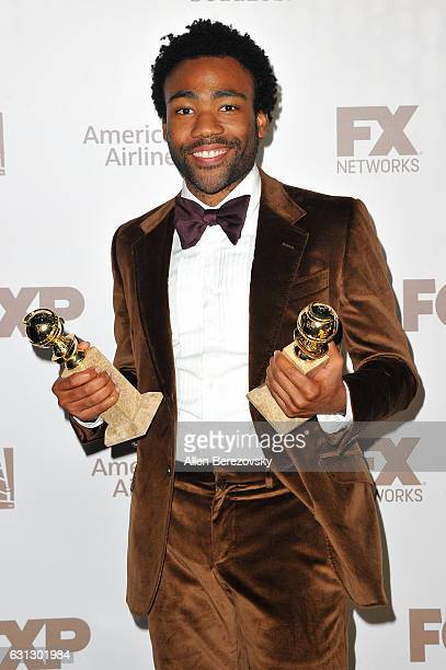 Actor Donald Glover attends FOX and FX's 2017 Golden Globe Awards After Party at The Beverly Hilton Hotel on January 8 2017 in Beverly Hills...