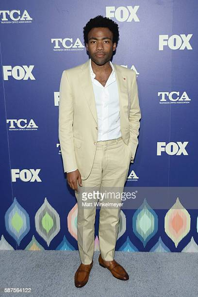 Actor Donald Glover attends the FOX Summer TCA Press Tour on August 8 2016 in Los Angeles California