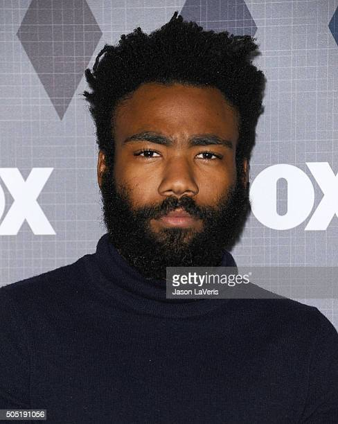 Actor Donald Glover attends the FOX winter TCA 2016 AllStar party at The Langham Huntington Hotel and Spa on January 15 2016 in Pasadena California