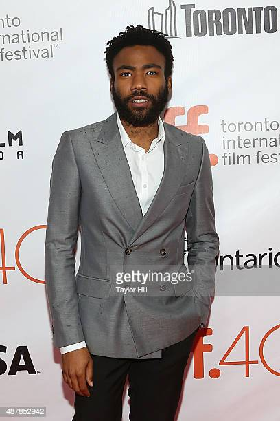 Actor Donald Glover attends the premiere for 'The Martian' at Roy Thomson Hall during the 2015 Toronto International Film Festival on September 11...