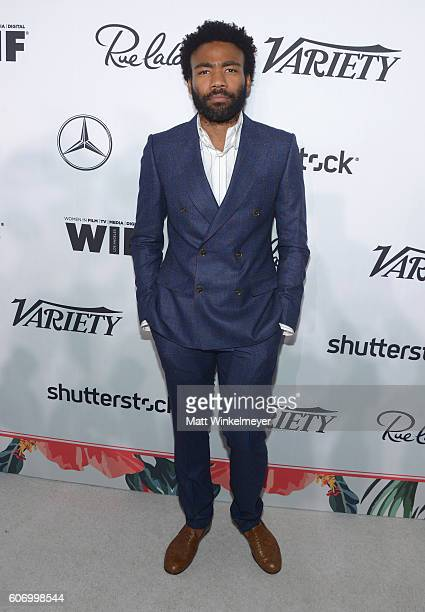 Actor Donald Glover attends Variety and Women in Film's PreEmmy Celebration at Gracias Madre on September 16 2016 in West Hollywood California