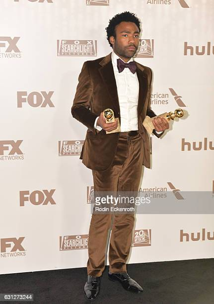 Actor Donald Glover winner of Best Actor in a Television Series Musical or Comedy for 'Atlanta' and Best Television Series Musical or Comedy for...